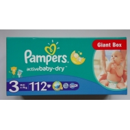 PAMPERS Active Baby Midi 3. 4-9 kg. 112 szt.