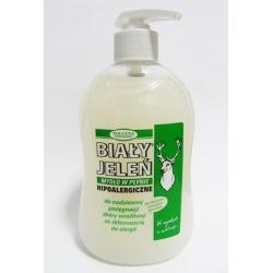 BIAŁY JELEŃ - mydło naturalne w płynie 500g. (szare)