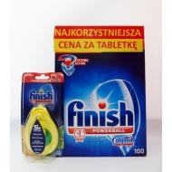 FINISH CALGONIT All In One - zestaw tabletki 100 szt.+zapach Lemon