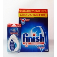 FINISH CALGONIT All In One - zestaw tabletki 100 szt.+zapach Regular